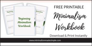 free minimalism workbook
