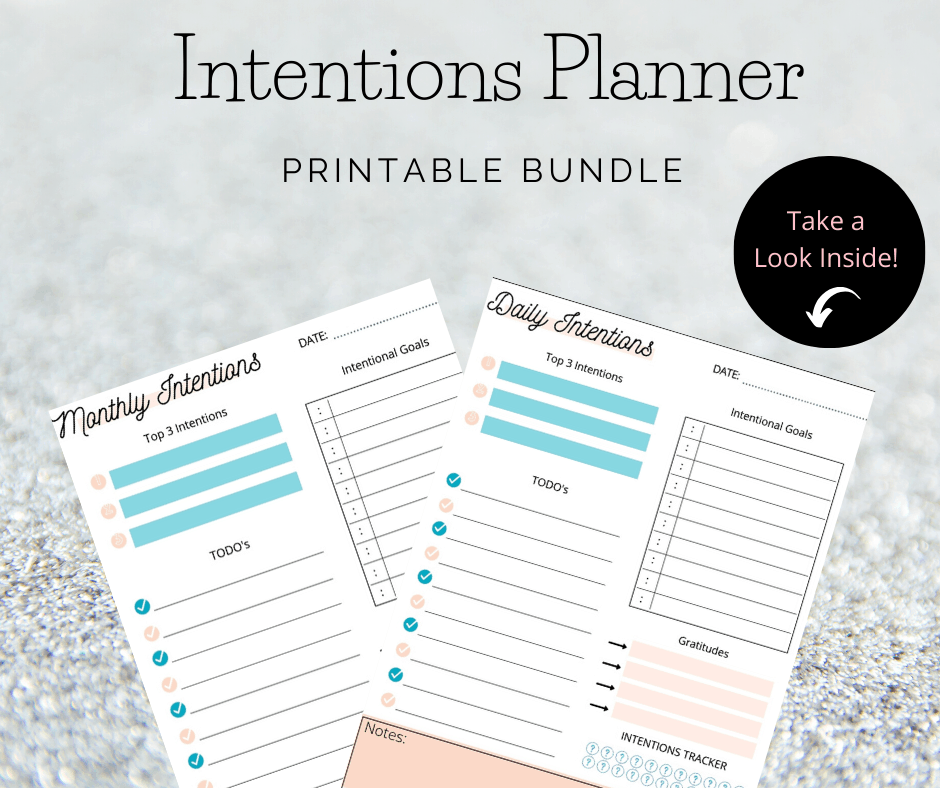 Intentions Planner Bundle - Start intention setting today. CLICK HERE
