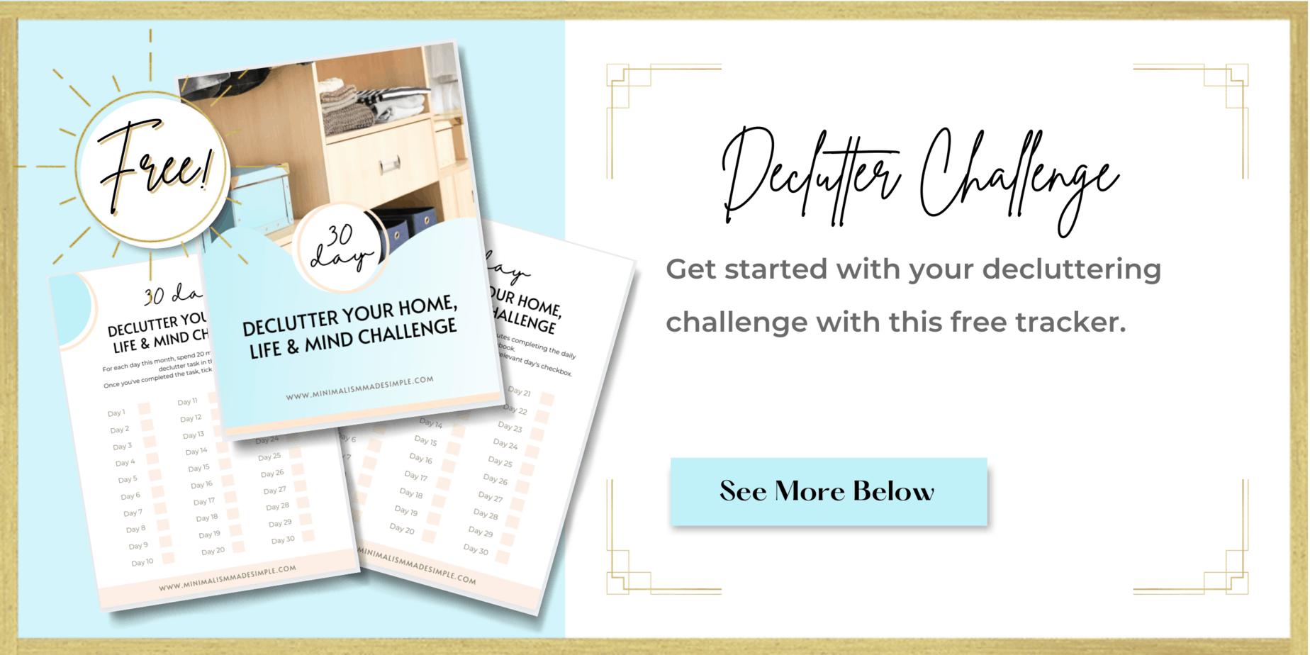declutter challenge tracker